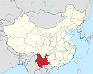 Yunnan Province In China Map